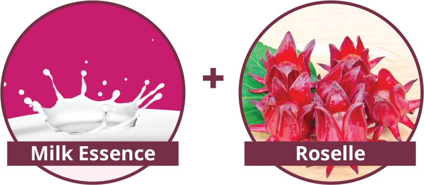 Shakura Singapore milk essence and roselle ingredients