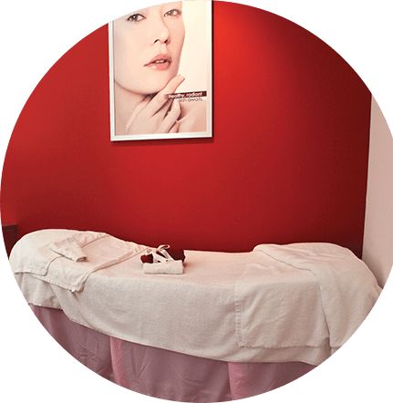 Shakura Singapore treatment room bed facility