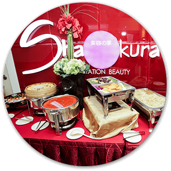 Shakura Singapore buffet for event